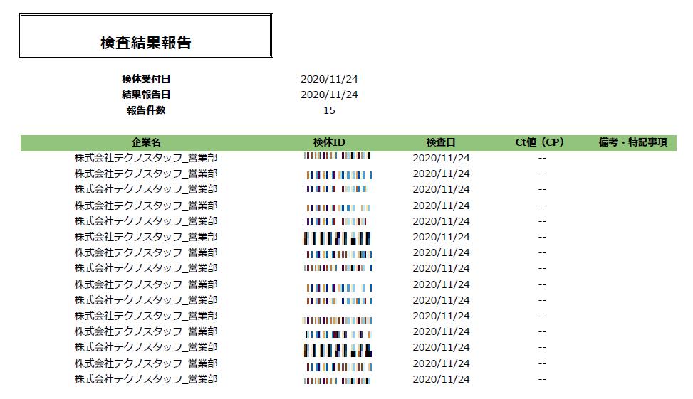 検査結果2020.11.24